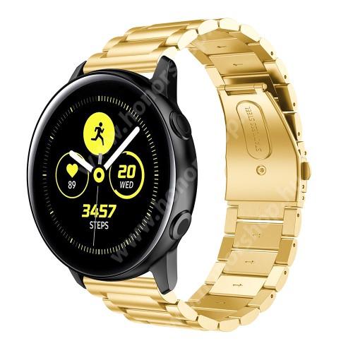 HUAWEI Honor MagicWatch 2 42mm Fém okosóra szíj - ARANY - rozsdamentes acél, csatos - 188mm hosszú, 20mm széles - SAMSUNG Galaxy Watch 42mm / Xiaomi Amazfit GTS / SAMSUNG Gear S2 / HUAWEI Watch GT 2 42mm / Galaxy Watch Active / Active 2
