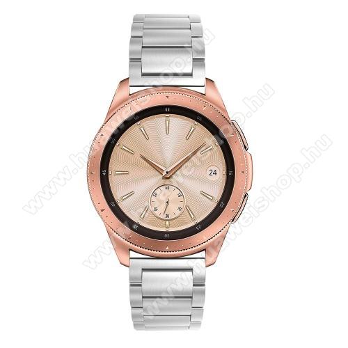 HUAWEI Watch GT 2 42mmFém okosóra szíj - EZÜST - rozsdamentes acél, csatos, 175mm hosszú, 20mm széles, 150-205 mm-es csuklóig használható - SAMSUNG Galaxy Watch 42mm / HUAWEI Watch GT 2 42mm