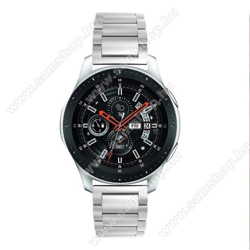 SAMSUNG Galaxy Watch3 45mm (SM-R845F)Fém okosóra szíj - EZÜST - rozsdamentes acél, csatos, 180mm hosszú, 22mm széles, 145-208 mm-es csuklóig használható - SAMSUNG Galaxy Watch 46mm / SAMSUNG Gear S3 Classic / SAMSUNG Gear S3 Frontier