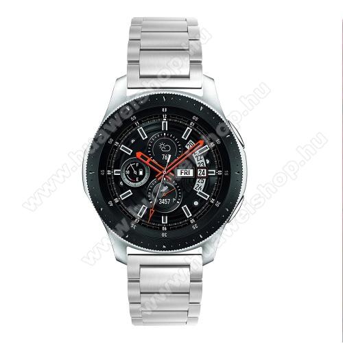 HUAWEI Watch GT 2 46mmFém okosóra szíj - EZÜST - rozsdamentes acél, csatos, 180mm hosszú, 22mm széles, 145-208 mm-es csuklóig használható - SAMSUNG Galaxy Watch 46mm / SAMSUNG Gear S3 Classic / SAMSUNG Gear S3 Frontier