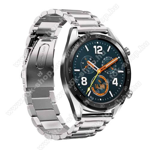 HUAWEI Honor MagicWatch 2 46mmFém okosóra szíj - EZÜST - rozsdamentes acél,  180mm hosszú, 22mm széles - HUAWEI Watch GT / HUAWEI Watch Magic / Watch GT 2 46mm