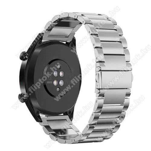 Xiaomi Watch ColorFém okosóra szíj - EZÜST - rozsdamentes acél, csatos - 180mm hosszú, 22mm széles - HUAWEI Watch GT / HUAWEI Watch Magic / Watch GT 2 46mm