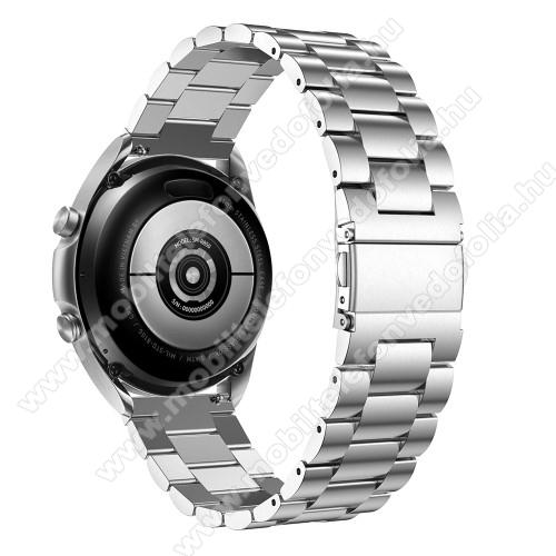 Xiaomi 70mai SaphirFém okosóra szíj - EZÜST - rozsdamentes acél, csatos, 184mm hosszú, 20mm széles, 135-235mm-es méretű csuklóig ajánlott - SAMSUNG Galaxy Watch 42mm / Xiaomi Amazfit GTS / Galaxy Watch3 41mm / HUAWEI Watch GT 2 42mm / Galaxy Watch Active / Active 2