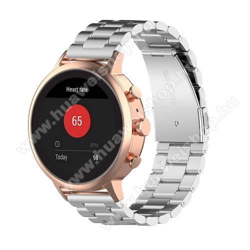 HUAWEI WatchFém okosóra szíj - EZÜST - rozsdamentes acél, csatos, 18mm széles - Xiaomi Mi Watch (For China Market) / Fossil Gen 4 / HUAWEI TalkBand B5 / Garmin vivoactive 4S