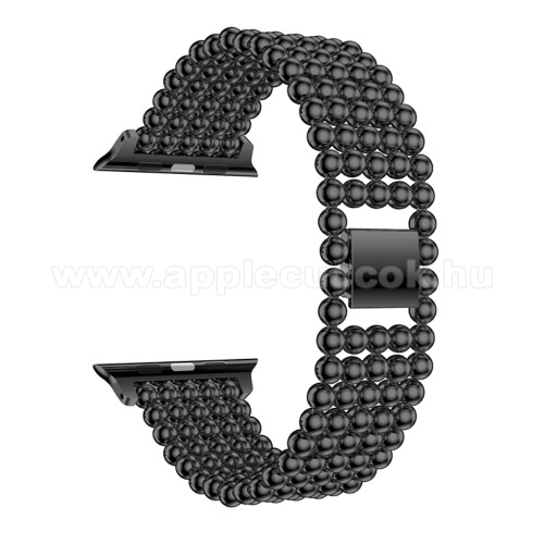 APPLE Watch Series 1 42mm Fém okosóra szíj - FEKETE - Apple Watch Series 1 / 2 / 3 - 42mm