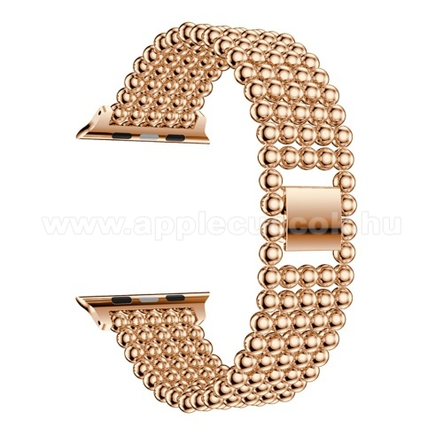 APPLE Watch Series 4 40mm Fém okosóra szíj - ROSE GOLD - Apple Watch Series 1/2/3 38mm / APPLE Watch Series 4 40mm / APPLE Watch Series 5 40mm