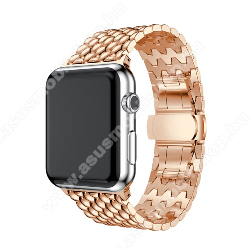 Fém okosóra szíj - ROSE GOLD - Apple Watch Series 1 / 2 / 3 - 38mm - ACÉL