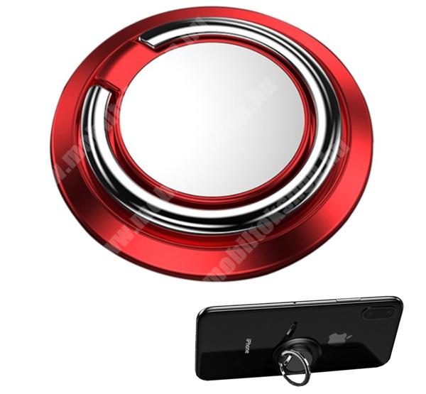HomTom HT7 Fém ujjtámasz, gyűrű tartó - Biztos fogás készülékéhez, fém, ragasztható, kitámasztó, 360°-ban forgatható - PIROS