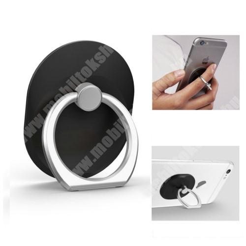 Elephone P3000 Fém ujjtámasz, gyűrű tartó - Biztos fogás készülékéhez - FEKETE
