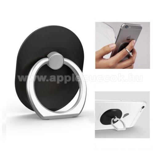 APPLE iPhone XFém ujjtámasz, gyűrű tartó - Biztos fogás készülékéhez - FEKETE