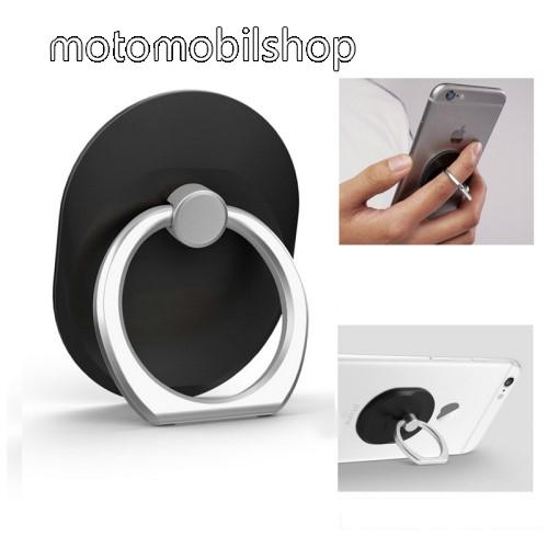 MOTOROLA Aura Fém ujjtámasz, gyűrű tartó - Biztos fogás készülékéhez - FEKETE