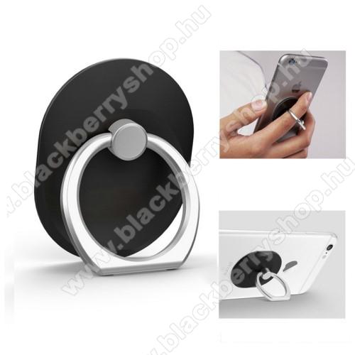 BLACKBERRY Evolve XFém ujjtámasz, gyűrű tartó - Biztos fogás készülékéhez - FEKETE