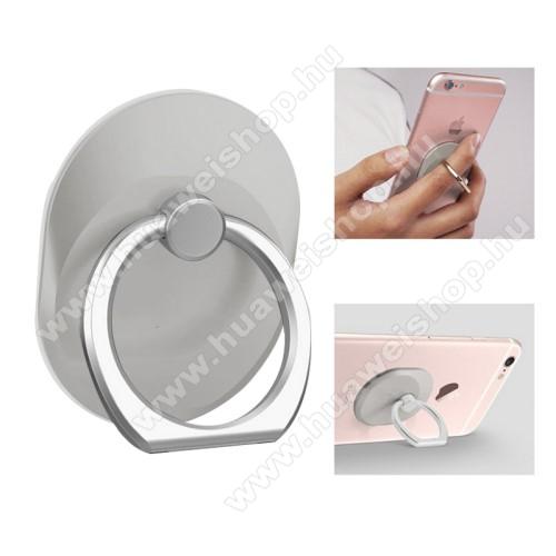 Fém ujjtámasz, gyűrű tartó - Biztos fogás készülékéhez - SZÜRKE