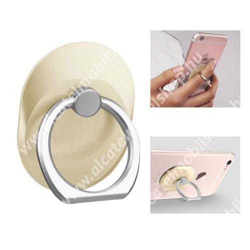 Fém ujjtámasz, gyűrű tartó - Biztos fogás készülékéhez - ARANY