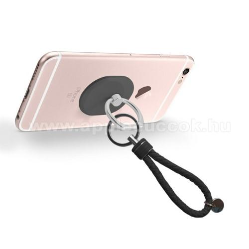 APPLE iPad 10.2 (7th Generation) (2019)Fém ujjtámasz, gyűrű tartó - Biztos fogás készülékéhez - FEKETE