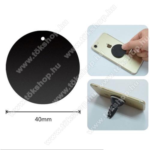 Fémlap mágneses autós tartókhoz - ultravékony 0,5mm, kör alakú 40mm - FEKETE