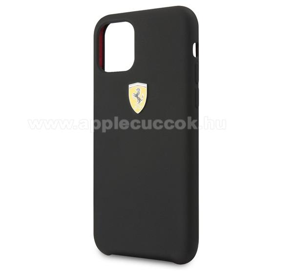 Ferrari Scuderia műanyag védő tok / hátlap - MATT FEKETE - FESSIHCN61BK - Apple iPhone 11 - GYÁRI