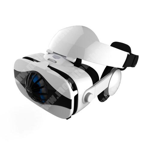 ALCATEL A30 FIIT VR 5F 3D VR 6.gen. videoszemüveg - VR 3D, filmnézéshez ideális,  145 x 85mm telefon befogadó keret, fejhallgató, beépített ventilátor microUSB kábellel!, CSAK GIROSZKÓPPAL ELLÁTOTT OKOSTELEFONOKKAL MŰKÖDIK - FEHÉR