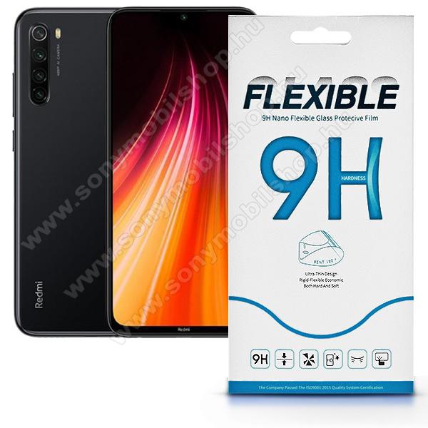 Flexible 9H Nano Glass rugalmas edzett üveg képernyővédő fólia, 0,15 mm vékony, a képernyő sík részét védi - Xiaomi Redmi Note 8T