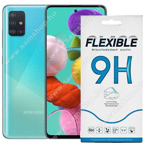 SAMSUNG Galaxy A QuantumFlexible 9H Nano Glass rugalmas edzett üveg képernyővédő fólia, 0,15 mm vékony, a képernyő sík részét védi - SAMSUNG Galaxy Note10 Lite (SM-N770F) / SAMSUNG Galaxy A71 (SM-A715F) / SAMSUNG Galaxy A71 5G (SM-A716F)
