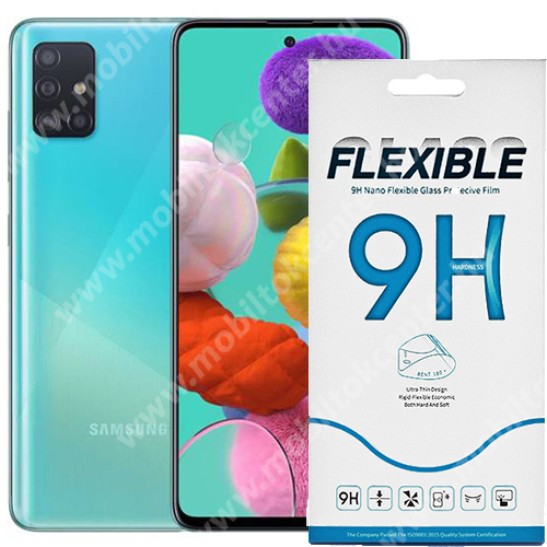 Flexible 9H Nano Glass rugalmas edzett üveg képernyővédő fólia, 0,15 mm vékony, a képernyő sík részét védi - SAMSUNG SM-A715F Galaxy A71