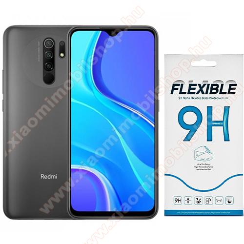 Flexible 9H Nano Glass rugalmas edzett üveg képernyővédő fólia, 0,15 mm vékony, a képernyő sík részét védi - Xiaomi Redmi 9