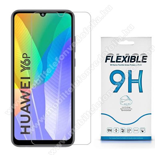 Flexible 9H Nano Glass rugalmas edzett üveg képernyővédő fólia, 0,15 mm vékony, a képernyő sík részét védi - HUAWEI Y6p