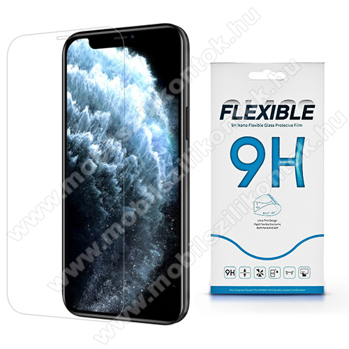 Flexible 9H Nano Glass rugalmas edzett üveg képernyővédő fólia, 0,15 mm vékony, a képernyő sík részét védi - APPLE iPhone 12 mini