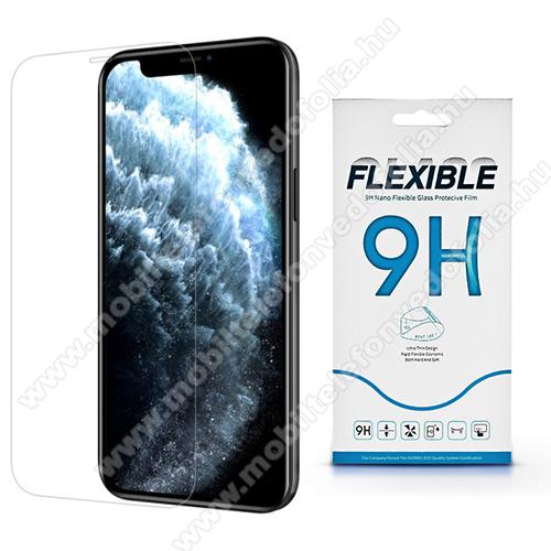 Flexible 9H Nano Glass rugalmas edzett üveg képernyővédő fólia, 0,15 mm vékony, a képernyő sík részét védi - APPLE iPhone 12 Pro Max