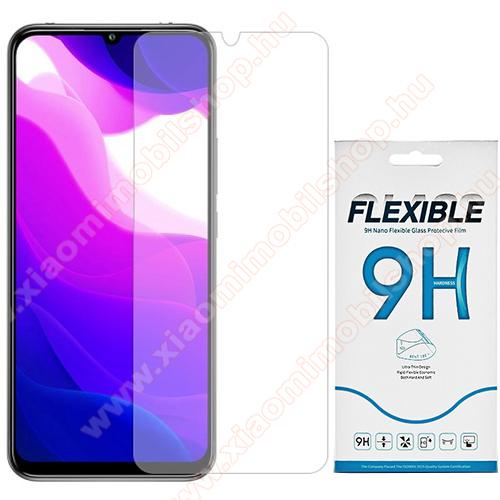 Flexible 9H Nano Glass rugalmas edzett üveg képernyővédő fólia, 0,15 mm vékony, a képernyő sík részét védi! - Xiaomi Mi 10 Lite 5G / Xiaomi Mi 10 Youth 5G / Xiaomi Mi 10 Lite Zoom