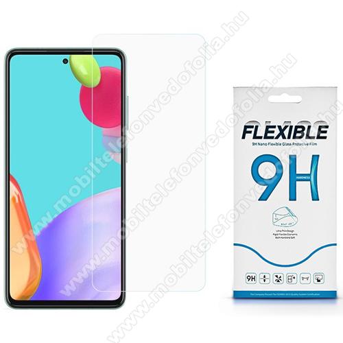 Flexible 9H Nano Glass rugalmas edzett üveg képernyővédő fólia, 0,15 mm vékony, a képernyő sík részét védi - SAMSUNG Galaxy A52 5G (SM-A526F) / Galaxy A52 4G (SM-A525F)