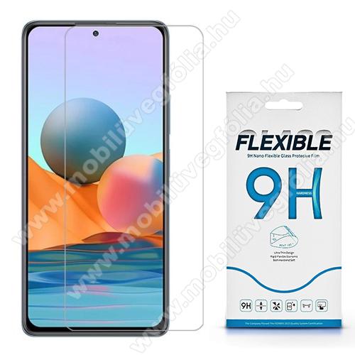 Flexible 9H Nano Glass rugalmas edzett üveg képernyővédő fólia, 0,15 mm vékony, a képernyő sík részét védi - Xiaomi Redmi Note 10 Pro / Redmi Note 10 Pro Max