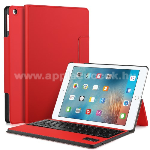 Flip / mappa b?rtok - bluetooth billenty?zet, ANGOL KIOSZT�S! - APPLE IPAD 9.7 (2017) (5. GENER�CI�S) - PIROS / APPLE iPad 9.7 (2018)