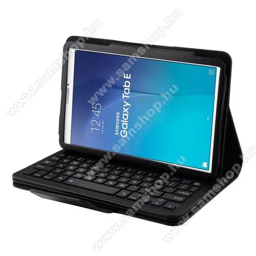 Flip / mappa bőrtok - bluetooth billentyűzet, ANGOL KIOSZTÁS! - SAMSUNG SM-T560 Galaxy Tab E 9.6 - FEKETE
