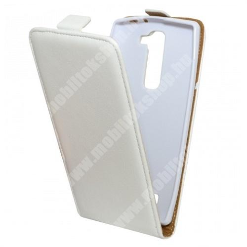 LG G4c (H525N) Flip tok - lefelé nyíló, rejtett mágneses záródás - FEHÉR - LG G4c