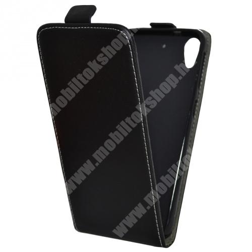 FLIP tok - lefelé nyíló, rejtett mágneses záródás - FEKETE - HTC Desire 626