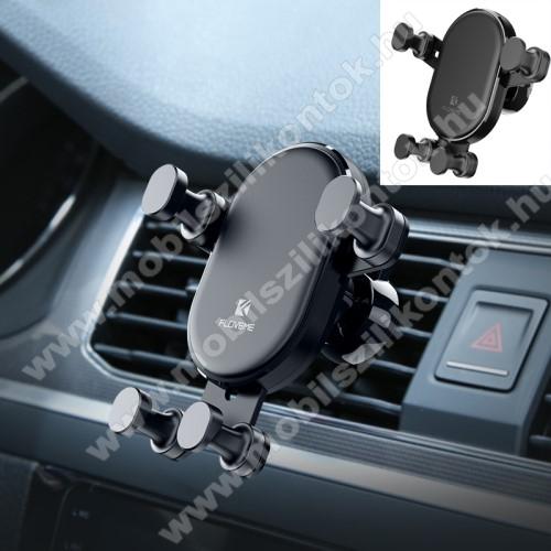 FLOVEME Gravity univerzális autós / gépkocsi tartó - FEKETE - szellőzőrácsra rögzíthető, 4.7-6.5