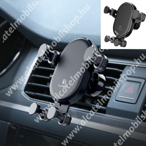 """FLOVEME Gravity univerzális autós / gépkocsi tartó - FEKETE - szellőzőrácsra rögzíthető, 4.7-6.5""""-os készülékekig - GYÁRI"""