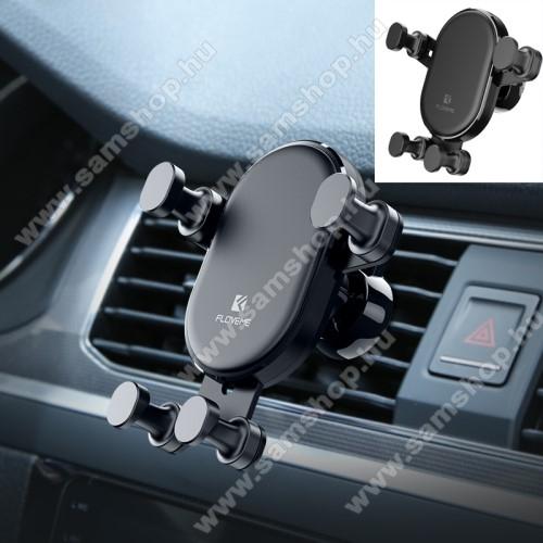 SAMSUNG SGH-E950FLOVEME Gravity univerzális autós / gépkocsi tartó - FEKETE - szellőzőrácsra rögzíthető, 4.7-6.5