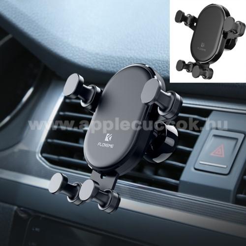 APPLE iPOD 20GB/U2 Special EditionFLOVEME Gravity univerzális autós / gépkocsi tartó - FEKETE - szellőzőrácsra rögzíthető, 4.7-6.5