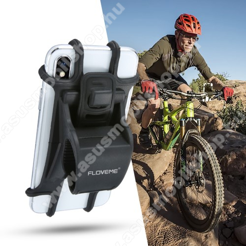 ASUS Zenfone 2 Laser (ZE500KG)FLOVEME UNIVERZÁLIS motoros / kerékpáros / babakocsi tartó konzol mobiltelefon készülékekhez - szilikon, kormányra rögzíthető, 4-6.3