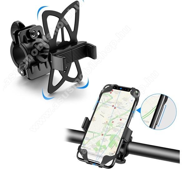 ASUS Zenfone 2 (ZE551ML)FLOVEME UNIVERZÁLIS motoros / kerékpáros tartó konzol mobiltelefon készülékekhez - szilikon, kormányra rögzíthető, 4-6.8