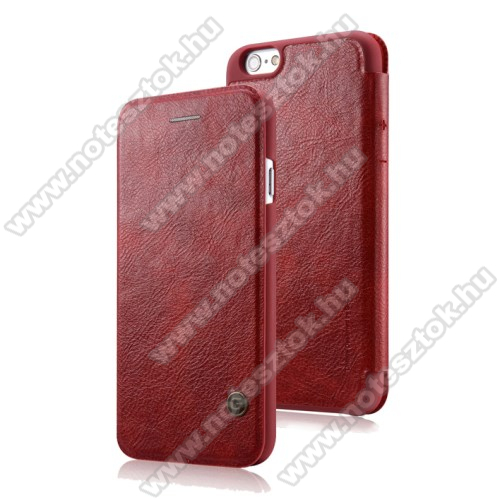 APPLE iPhone 6 G-CASE Business Series notesz / mappa tok - PIROS - oldalra nyíló flip cover - APPLE iPhone 6 / APPLE iPhone 6s