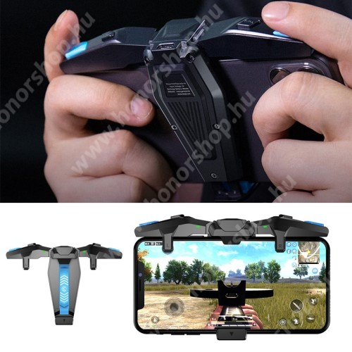 HUAWEI Honor V40 5G GameSir F4 Falcon Kontroller / Joystick - ravasz FPS játékokhoz, PUBG-hez ajánlott, összecsukható, 90mAh beépített akkumulátor, Type-C töltőaljzat, kompatibilis okostelefonokkal - FEKETE