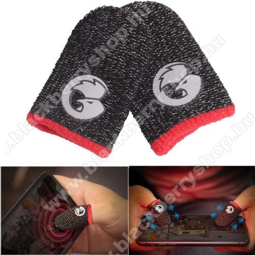 GameSir ujjra húzható kesztyű - 1pár/2db, csúszásgátló, ujjlenyomat- és izzadsággátló, FPS játékokhoz, PUBG-hez ajánlott - FEKETE