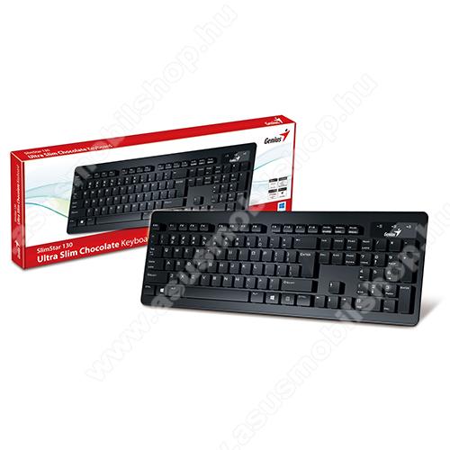 GENIUS SLIMSTAR 130 USB vezetékes magyar billentyűzet - FEKETE - 31300714104 - GYÁRI