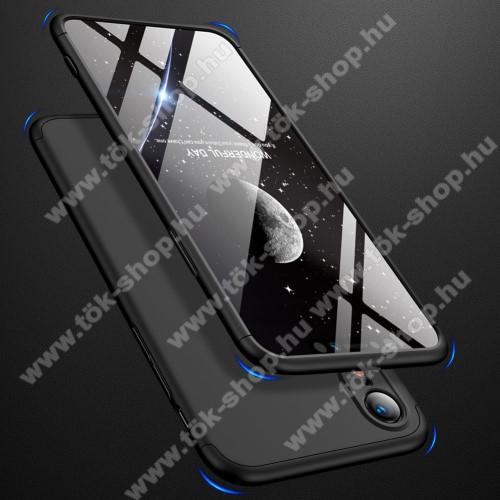 GKK műanyag védő tok / hátlap - FEKETE - 360 fokos védelem! - APPLE iPhone Xr