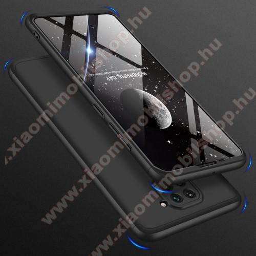 GKK műanyag védő tok / hátlap - FEKETE - 360 fokos védelem! - Xiaomi Redmi Note 9 / Xiaomi Redmi 10X 4G