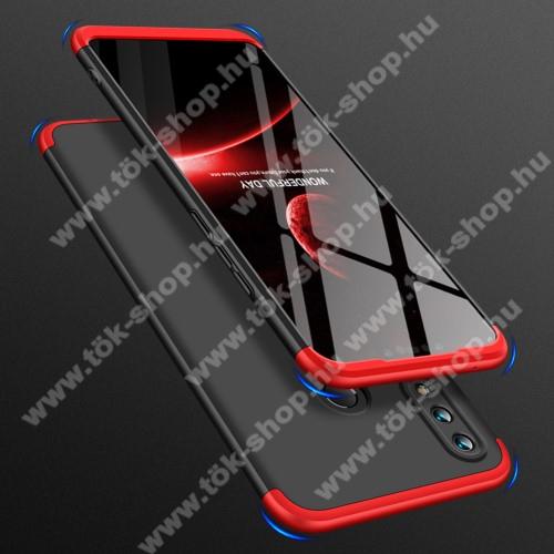 GKK műanyag védő tok / hátlap - FEKETE / PIROS - 360 fokos védelem! - HUAWEI nova 3i / HUAWEI P Smart+