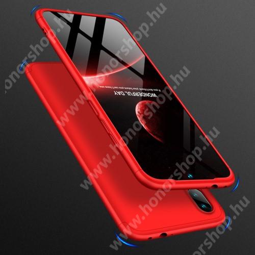 GKK műanyag védő tok / hátlap - PIROS - 360 fokos védelem! - Xiaomi Redmi Note 7 / Xiaomi Redmi Note 7 Pro / Xiaomi Redmi Note 7S